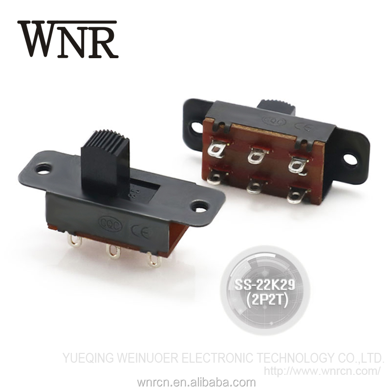 Good quality 2 pole 2 way mini slide switch,toggle switch for instrumentation SS-22K29(2P2T)