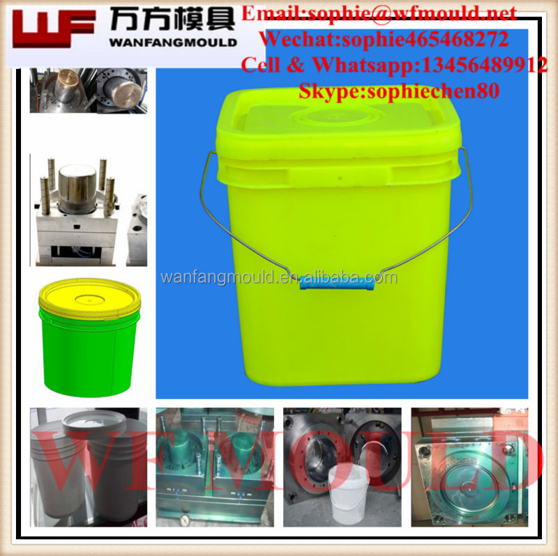 2017 hot new products plastic 20L bucket mould