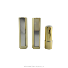 Gold color UV effect private label lipstick tube with mirror