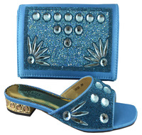 SB420 blue color EUR size 38/39/40/41/42/43 message us which size you want african shoes and bag set