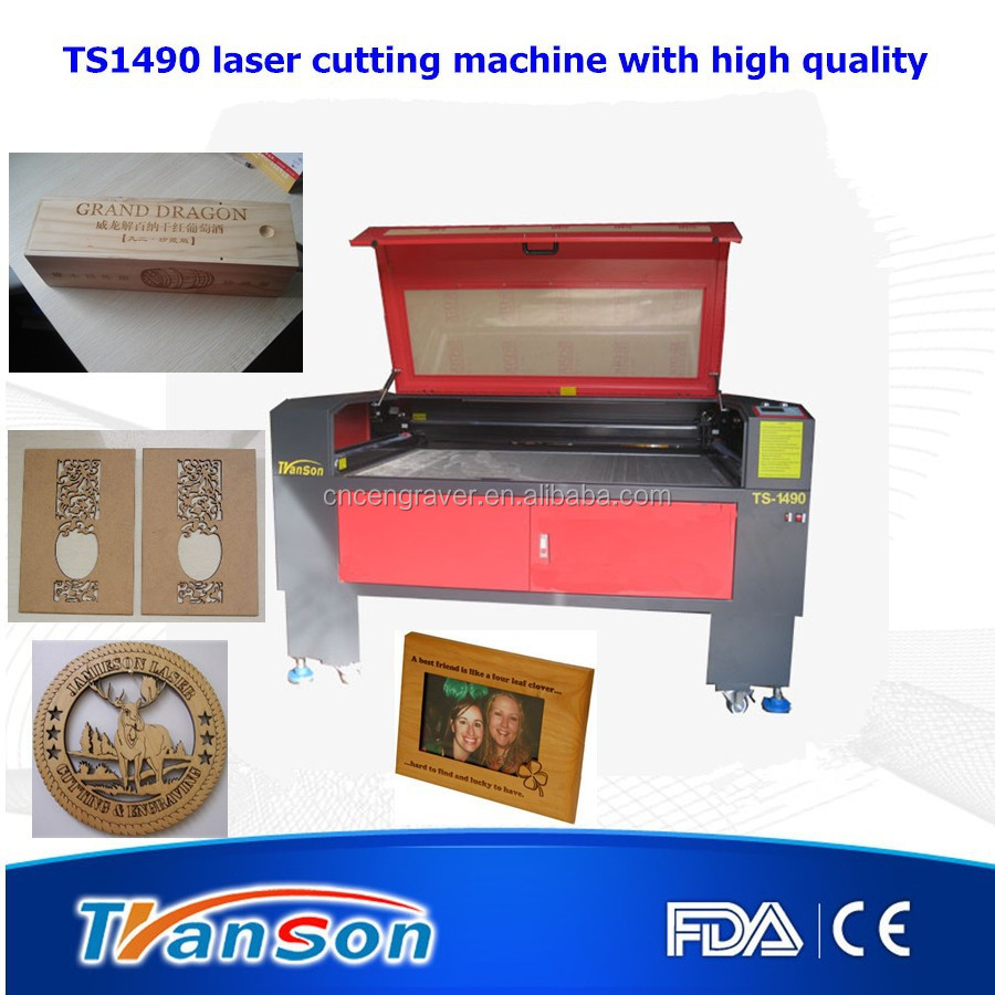 Surface wood laser engraving and Timber laser cutting machine for sale TS1490