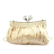 Hot sell beautiful design exquisite whole device satin brown shoulder bags for women