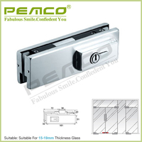 Factory directly sell Door Control Hardware stainless steel glass door lock patch fitting