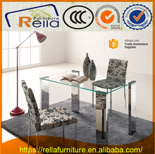 Latest designs stainless steel dining table and chair sets