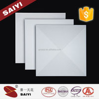 Fire Resistance Aluminum Ceiling Tiles 60x60 With Powder Coating