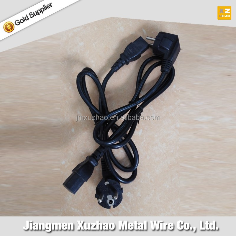 plug power cord/cable/wire 2 circles pin/ Single head