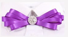 Polyester wholesale handmade ribbon bow tie