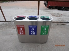 3 separation recycle bin trash can for sales