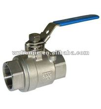 2000WOG 2PC Stainess Steel Ball Valve NPT Threaded with Locking Device
