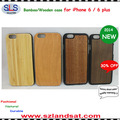 2015 New and hot sale pc bamboo cover for iphone 6 wooden cases IPC363