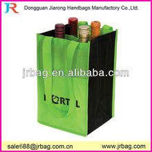 Capacious 4-bottle non woven wine packing bags