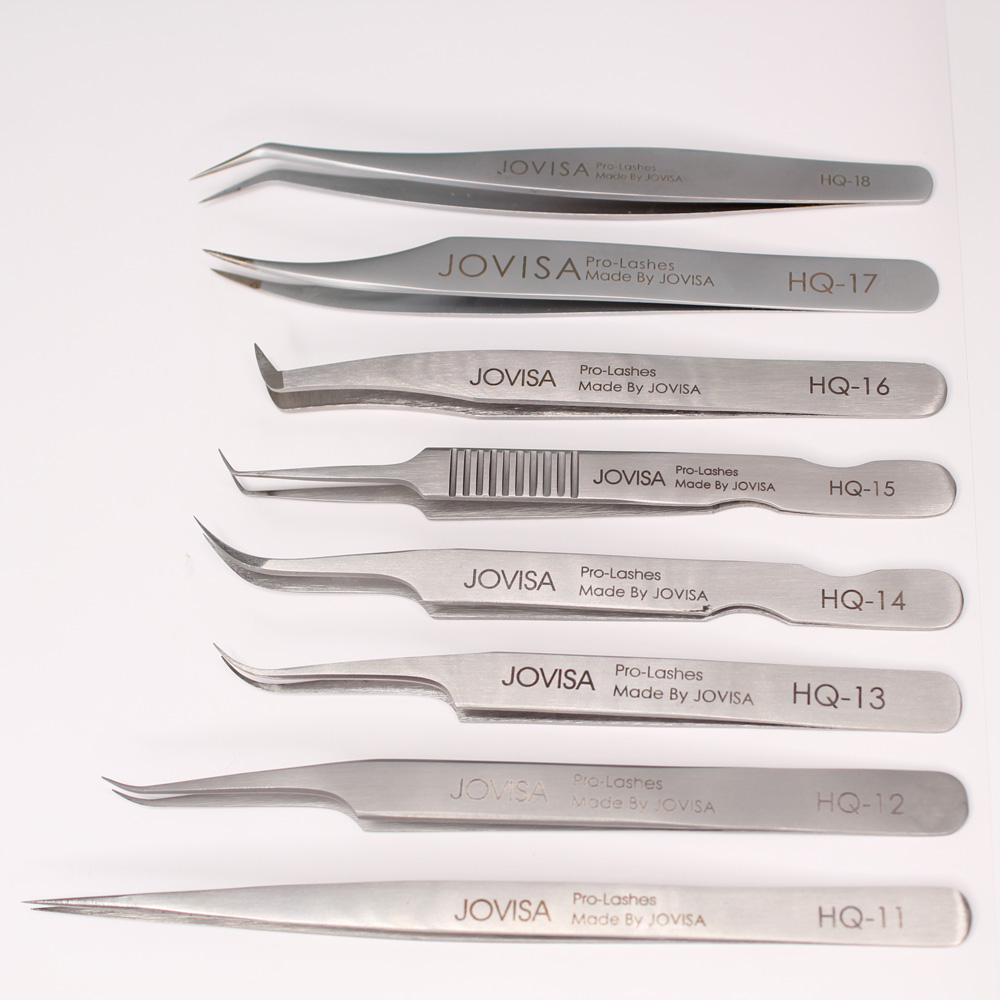 JOVISA High Quality HQ-Series HQ-11/12/13/14 Volume Eyelashes 3D To 6D Lashes Stainless Tweezers For Eyelash Extensions