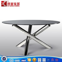 Whole sale hot product 2016 Modern glass dining table