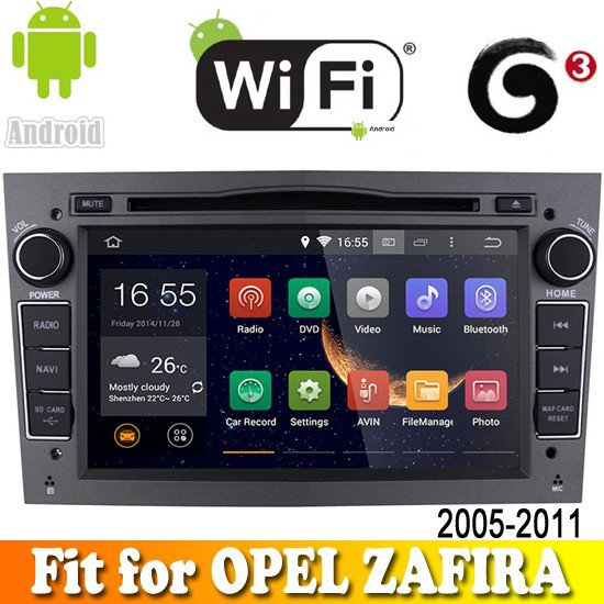 android 4.4.2 system touch sreen bluetooth radio car dvd gps navigation fit for OPEL ZAFIRA 2005 - 2011 with wifi support 3G
