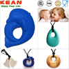 2017 new wholesale silicone teething beads bulk baltic teething necklace pendant for babies
