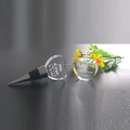 Hot love heart shape crystal wine bottle stopper with customized name for wedding favor gifts