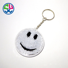 China manufacturer plastic silicon rubber emoji pvc light keychain