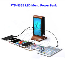 2017 Multiple Cell Phone Charging Station With Advertising Player