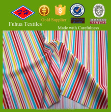 stripe printed polyester/spandex fabric for making swimwear