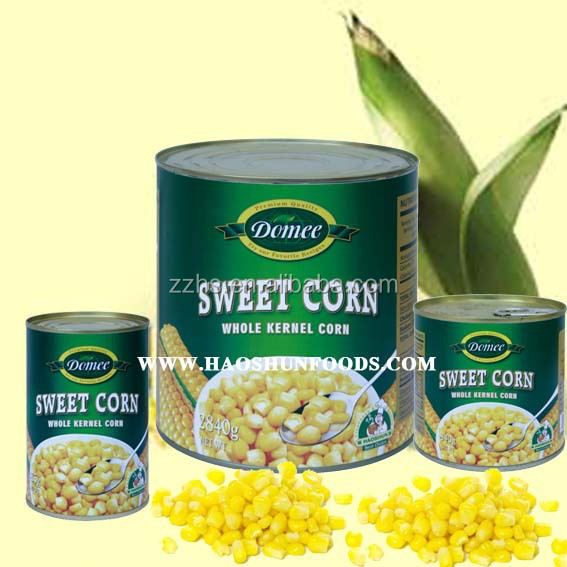 Canned Food Factories Sweet Corn Kernels Canned HALAL Products