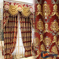 Bronzing design luxury ready made austrian curtains