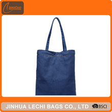 Korean Fashion Blue Color Shopping Cotton Bags Canvas Tote Bag Women Handbags
