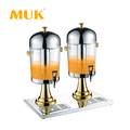 MUK hotel restaurant buffet Custom logo glass beverage dispenser