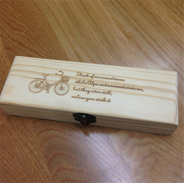 cheap branded wooden custom pencil case