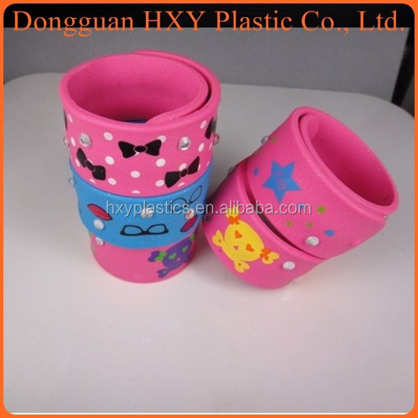 HXY wholesale silicone slap bracelet For Gifts