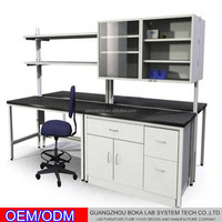 Professional chemistry dental laboratory furniture steel work bench