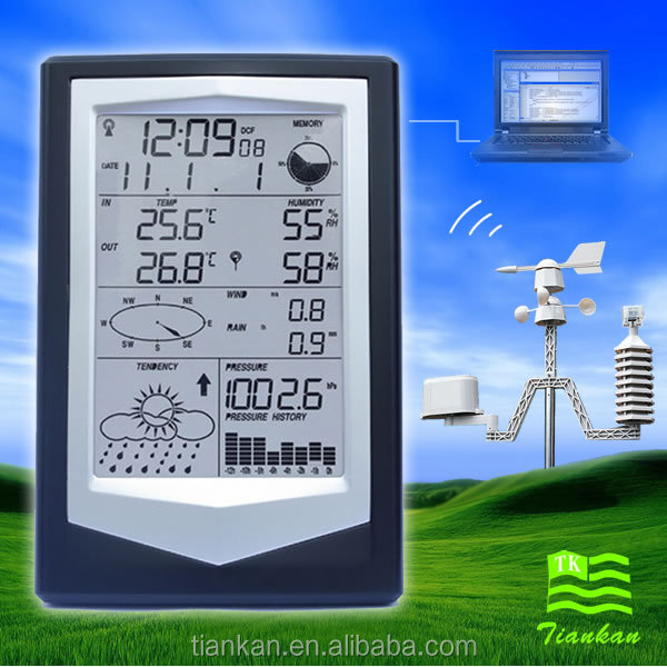 Professional Solar Weather Station with PC Software - wireless weather station