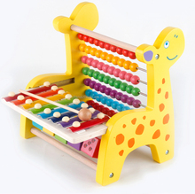 safety wooden toys counting game colorful beads frame