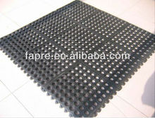 Anti-slip Perforated Rubber Cleaning Grass Mat