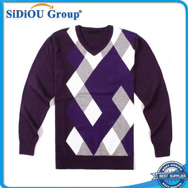 Long Sleeve Adult Knitted Christmas Sweater For Men