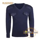 Navy blue ARMY V NECK COMMANDO SWEATER Military Pullover Wool/Acrylic