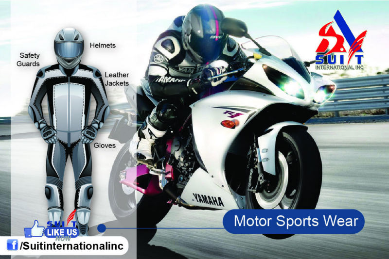 Premium Quality Motor Sports Wears (Helmets / Jacket / Gloves / Safety Kits-Pads/ Shoes)
