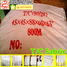 t/c 65/35 bleached white fabrics 133*94 45s plain weave broadcloth