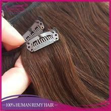 6A brazilian straight clip on hair aliexpress clip in human hair extension for black women