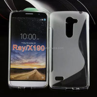low price china mobile phone s Line TPU soft skin gel case back cover for LG Ray X190 F670 alibaba wholesale