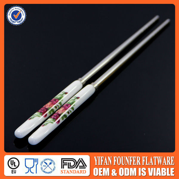 35g korean chopsticks with ceramic handle