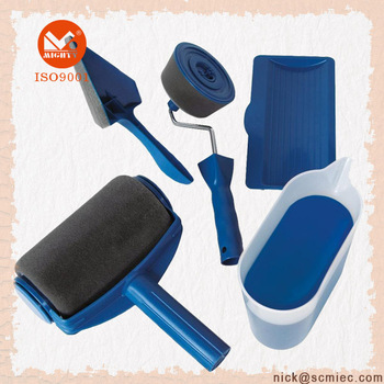 Hollow Head Flocking Painting Runner Roller Sets
