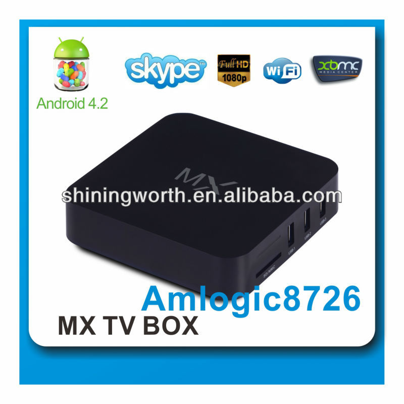 Amlogic8726-MX Android 4.2 TV BOX dual-core 1.5GHz 1GB RAM 8GB ROM