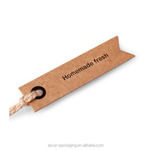 Custom wholesale competitive price printing Kraft paper hang tag with eyelet