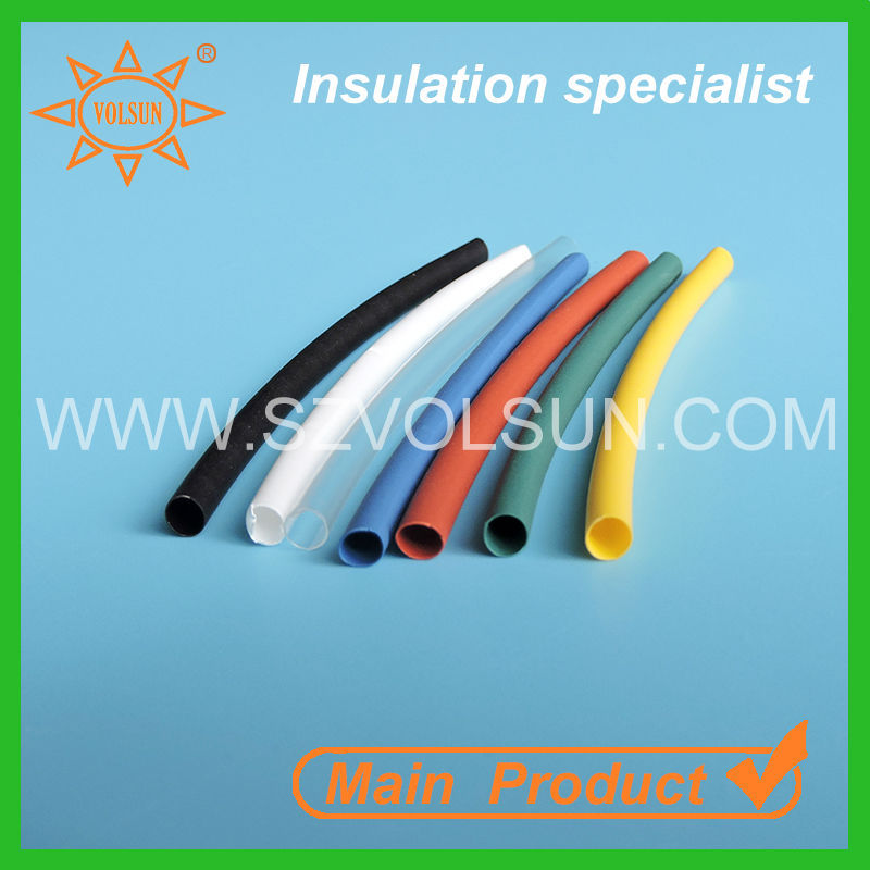 Heat shrink thin wall cable sealing plastic wire sleeve