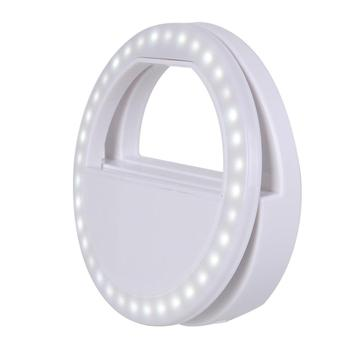 New Arrivals 2019 selfie ring light portable with Cell Phone Holder Stand clip led rechargeable selfie ring light