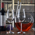 Diamondencrusted bordeaux two sets crystal red wine glasses for wedding