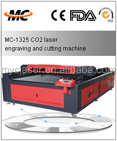 Large format laser cutting machine for fabric tailoring eastern