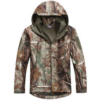 Wholesale Tree camo Men's Outdoor Hunting Softshell Fleece Lining sharkskin Jacket