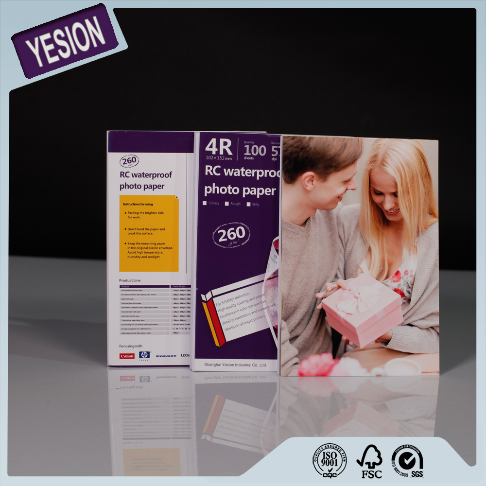 Yesion China Manufacturer Photo Paper Supply, A4 A3 Inkjet Printing RC Glossy&Satin Photo Paper For Minilab
