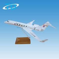 Handmade craft gulfstream G450 31cm 1/100 polyester resin plane model